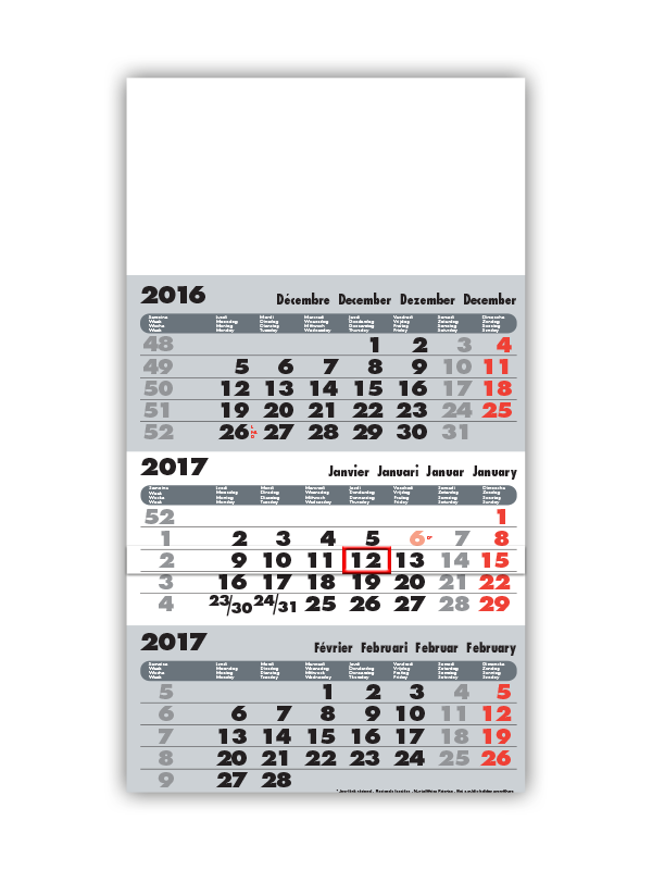 Advertising calendar manufacturer